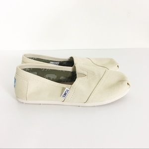 TOMS Ivory Canvas Slip On Shoes